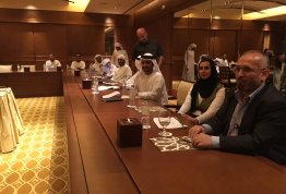 AAU organizes a scientific visit to attend a workshop about (MIS) in the Emirates Palace