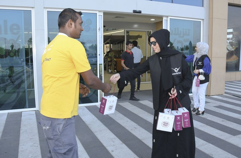 Distribution of Iftar Meals - Al Ain Campus